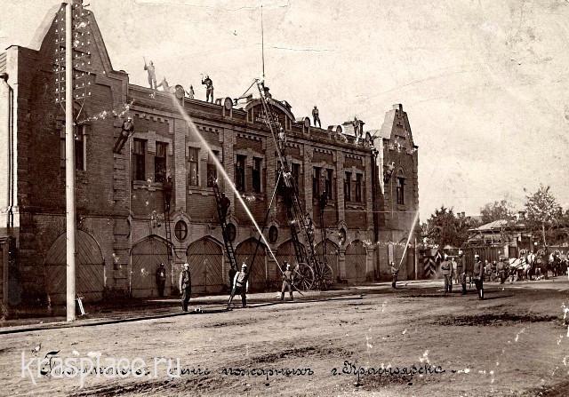 Учения в пожарном депо 1910 года