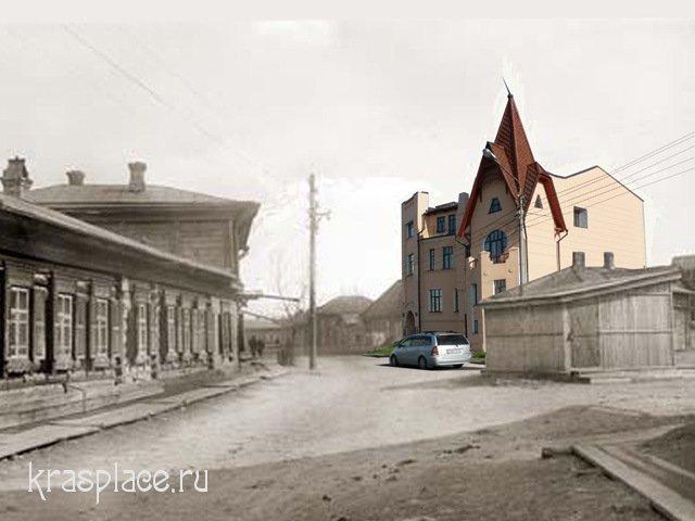 Совмещенная фотография дома Чернышева 1912-2009 гг.