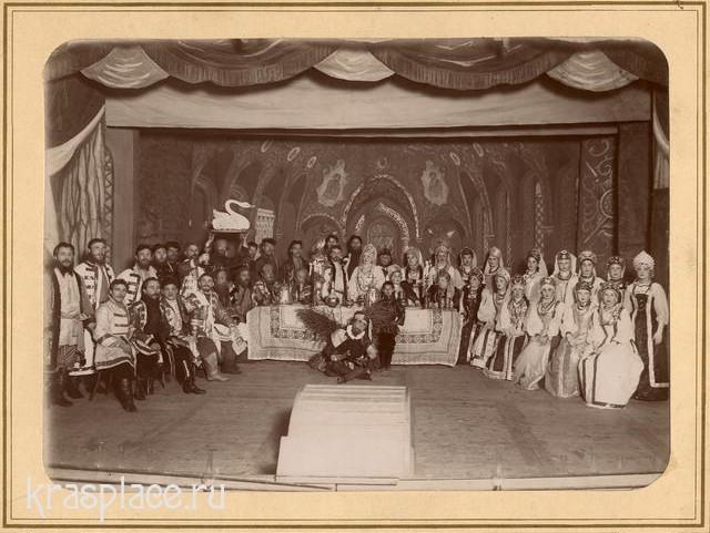 Участники постановки Русская свадьба 28 декабря 1895г