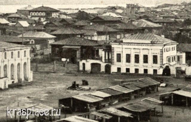 Дом Крутовских на Старобазарной площади в 1906 году