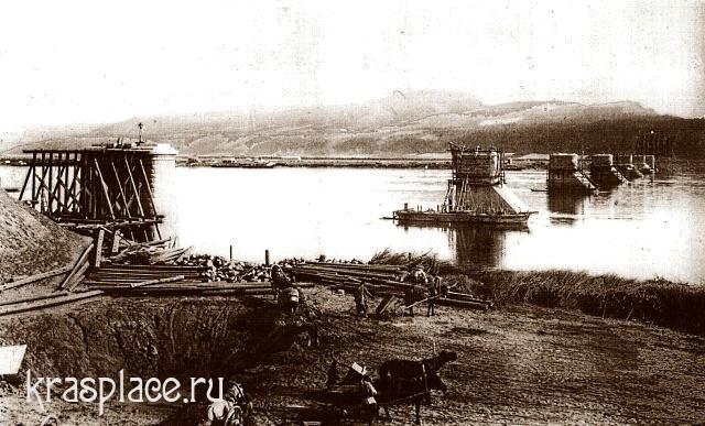 Опоры моста через Енисей