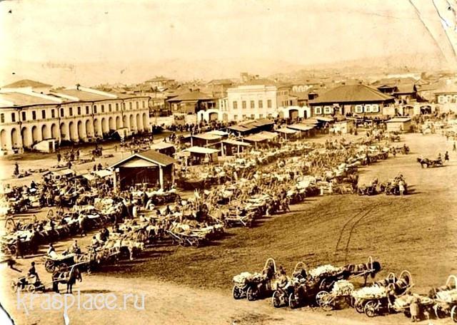 Гостиный двор на Старобазарной площади в 1890г.