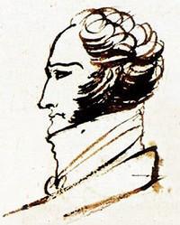портрет Ф.Ф.Вигеля в рукописи «Евгения Онегина» 1823 г.