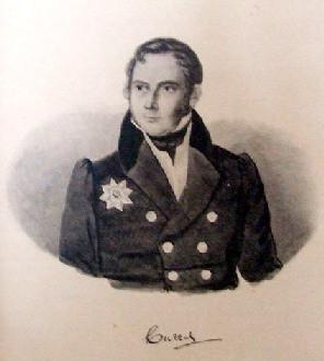 Ф.Ф.Вигель. Литография с акварели К.С.Осокина. 1836