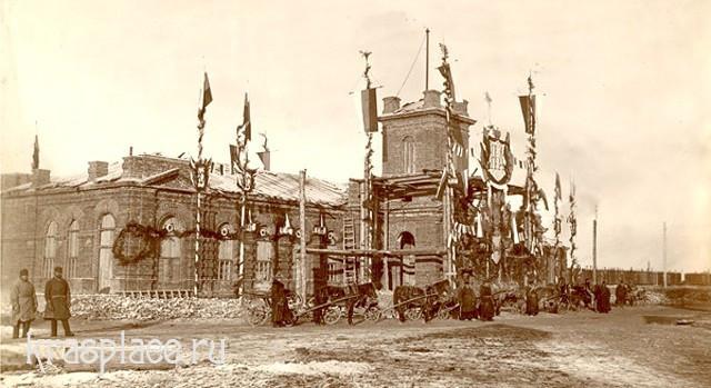 Красноярский вокзал при прибытии первого поезда