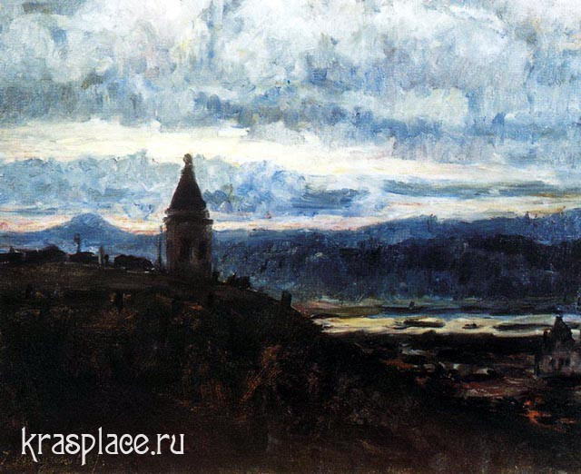 Вид Красноярска. 1887, Суриков В.И.