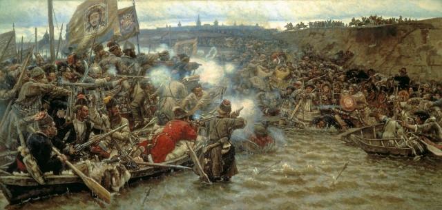 Покорение Сибири Ермаком, картина Василия Сурикова
