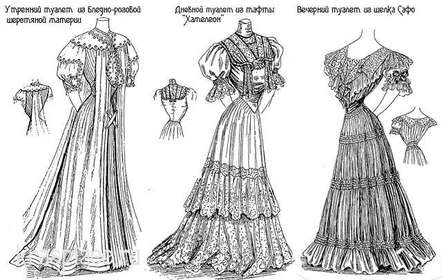 Женская мода 1905-1906 гг