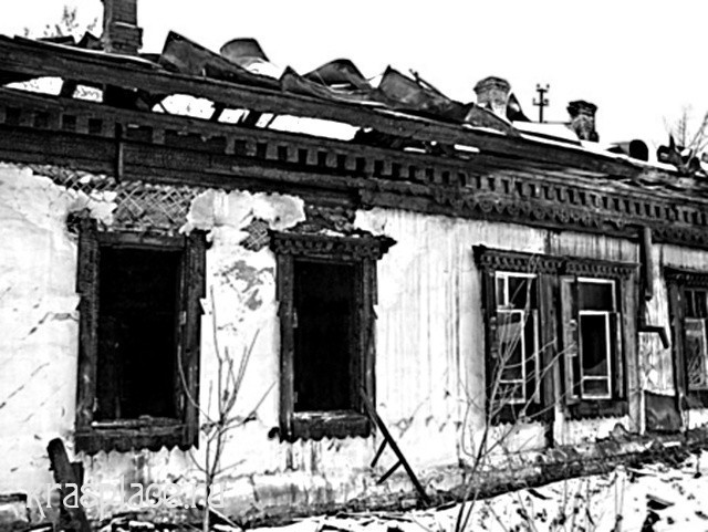 Дом Потехина после пожара 2007