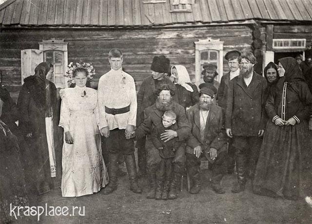 Свадьба семьи Соколовых в деревне Карымова Канского округа.