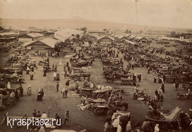 Новобазарная площадь в Красноярске 1905 год