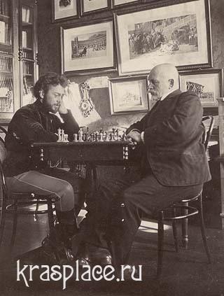 В.Л.Панов (слева) А.А.Савиных(справа) 1909