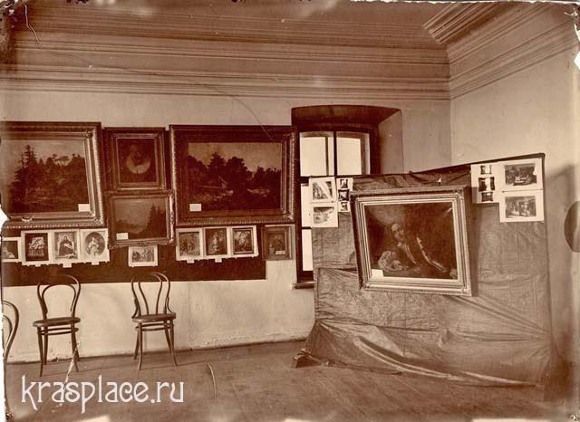 Дом Светлакова во время выставки первой художественной выставки