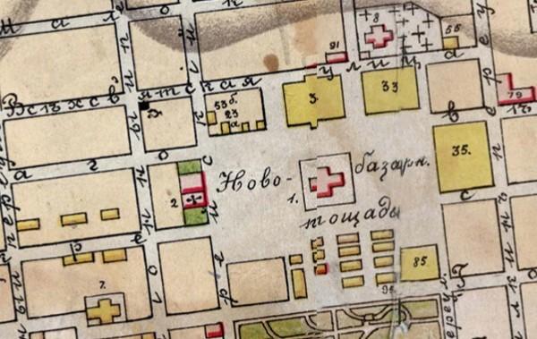 Фрагмент карты 1906 года