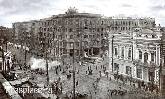 Строительство жилого дома по улице Мира. 1936