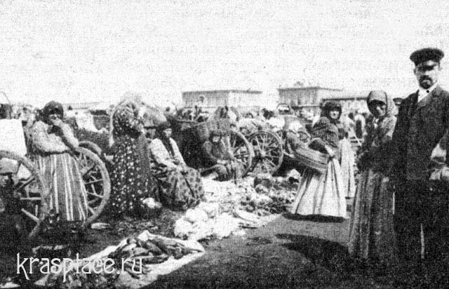 Базар в городе Минусинске 1907