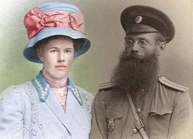 Петр Николаевич Коновалов с дочерью Евгенией