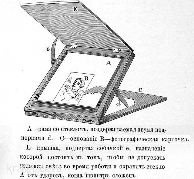 Пюпитр для раскрашивания фотокарточки акварелью
