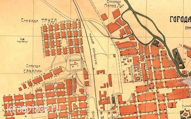 Слобода Алексеевка (Труда) на карте 1924 года