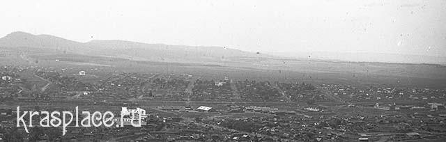 Вид Алексеевского поселка от р. Качи на запад