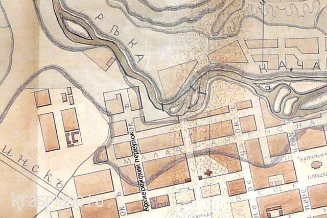 Фрагмент карты 1894 год