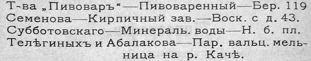 Спутник по городу Красноярску 1911 г