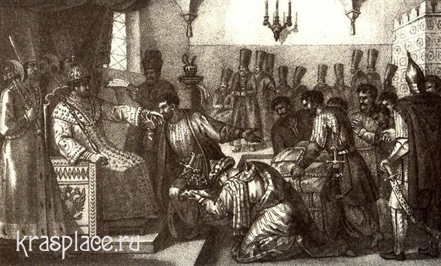 Борис Чориков, Послы Ермака бьют челом царю Ивану Грозному