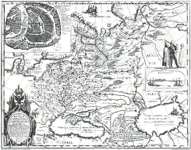 Карта 1613 г. Г.Герритса, изданной В. Кордтом
