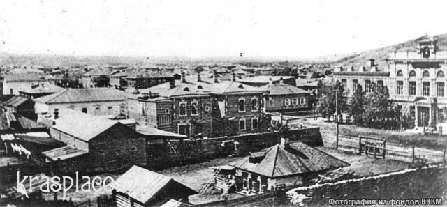 Дом Феофанова напротив мужской гимназии, купленный в 1904 г А.В.Телегиным. 1892-1900 гг.