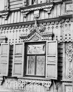 Фрагмент деревянной резьбы дома А.В.Телегина. 80-е годы ХХ века