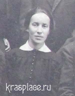 Надежда Константиновна Тараканова. Фрагмент фотографии преподавателей женской гимназии