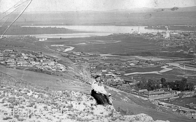 Вид Красноярска 1911