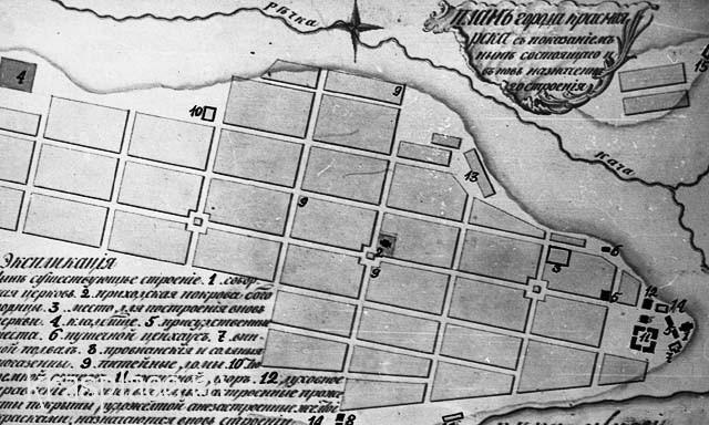План города Красноярска,конец XVIII века