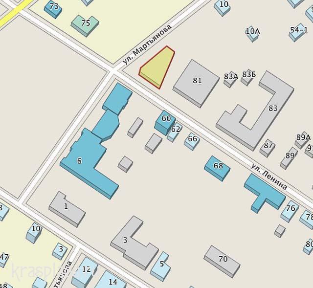 Фрагмент карты Минусинска 2012г