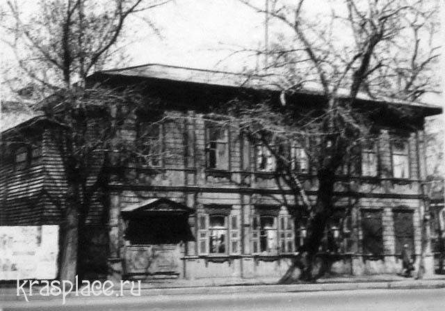 Деревянный дом Саввиных. Фотография 1980-х гг