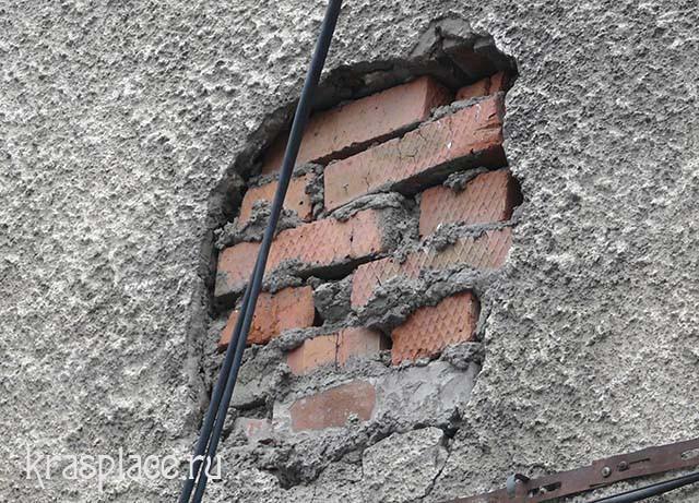 Кусок старой каменной кладки