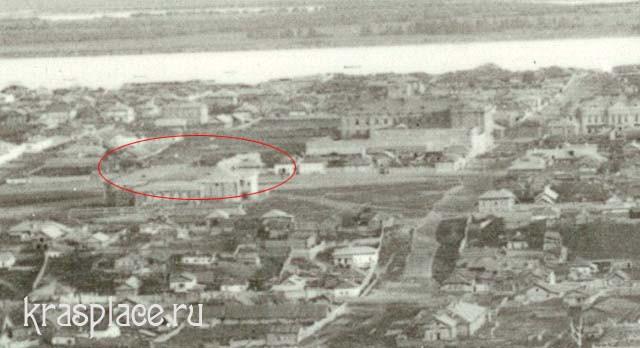 Место постройки школы на Больше-Качинской улице вблизи мужской гимназии. Фрагмент фото из архива ККМ