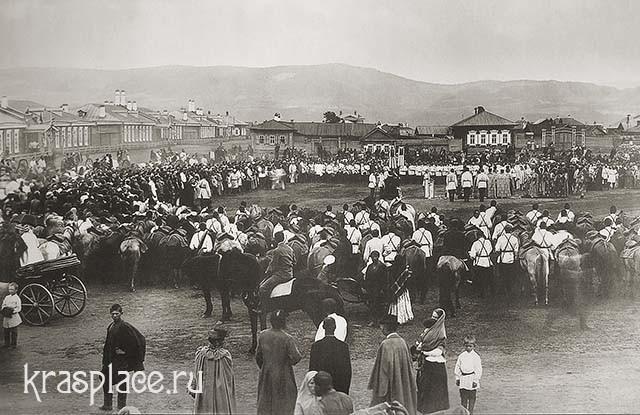 Молебен на Плац-Парадной площади 1890г. Из фондов ККМ