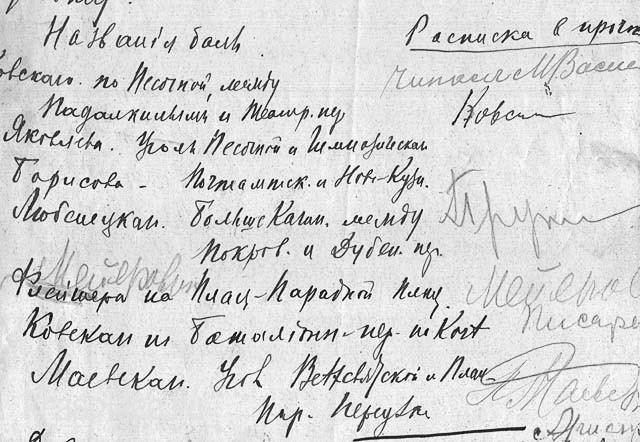 Перечень бань в 1920 году