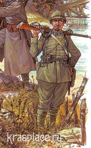 Итальянский пехотинец 1918 г.