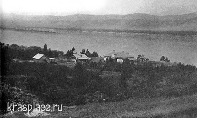 Дача Крутовского на берегу Енисея и устья речки Лалетиной