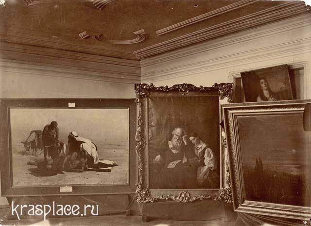 """Картина """"Милосердный самаритянин"""" на первой выставке картин в Красноярске"""
